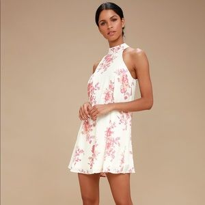 Lulus Darling Dearest Floral Print Dress